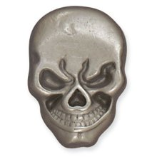 Skull Line 24 Snap 1/4in Post -  skull line 24 snap 14in post button fastener leathercraft decorative accent