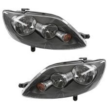 Volkswagen Golf Plus Mk5 2005-2009 Headlights Headlamps 1 Pair O/s & N/s