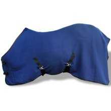 Fleece Rug with Surcingles 145 cm Blue