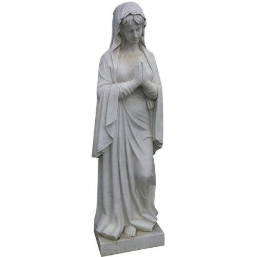 Marble  W62xdp45xh215 Cm Sized Madonne Of Lourdes