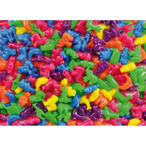 Pbx2470722 - Playbox - Plastic Beads (big Animals) - 250 Pcs