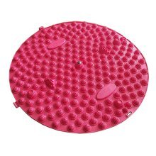 Round Foot Massager Therapy Mat Foot Massage Pad Shiatsu Sheet [Red]