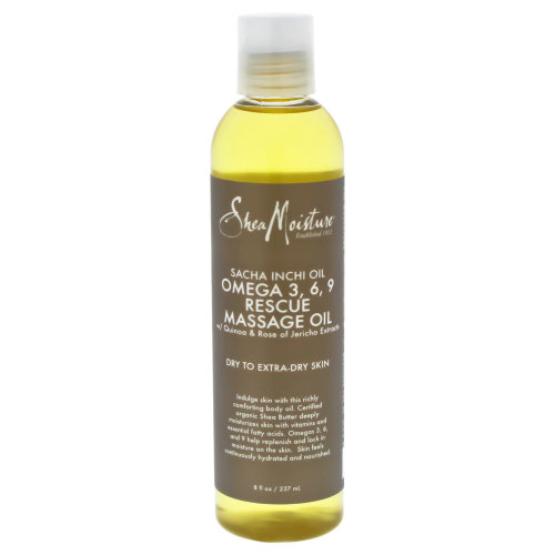 Sacha Inchi Oil Omega-3-6-9 Rescue Massage Oil by Shea Moisture for Unisex - 8 oz Massage Oil