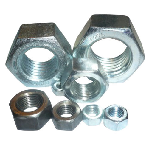M4-M14 Hexagon Full Nut Zinc Plated Steel Hex Nuts for Screw Bolts DIN934