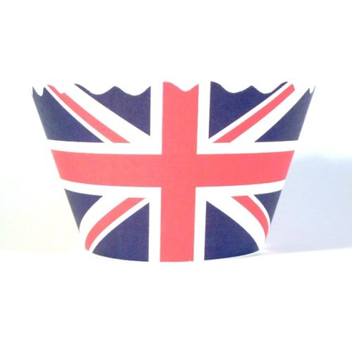Swift Union Jack Cupcake Wrapper, Pack of 12