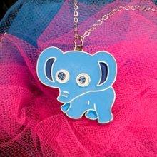 Wild Republic Elephant Metal Pendant Necklace - Animal -  wild republic animal pendant necklace elephant