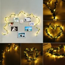 2M 20LEDs Leaf Fairy String Light