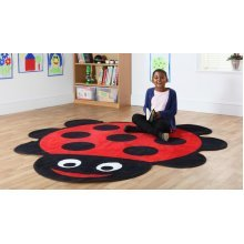 Childrens Back to Nature™ Ladybird Shaped Indoor Carpet
