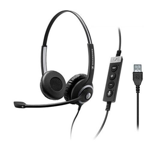 Sennheiser SC 260 MS II USB Binaural Head-band Black headset