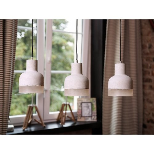Ceiling lamp - Lighting - 3 Light Pendant - Concrete - Grey - LUNI
