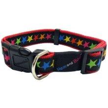 Hemmo & Co Stars Collar, 1-inch, Black -  hem boo collar stars black dog nylon collars adjustable large 1x1824