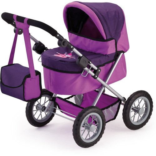 Bayer Design My First Doll's Pram Trendy Pushchair Buggy For Kids Lilac
