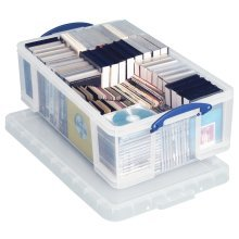 Really Useful Clear Plastic Storage Box 50 Litre