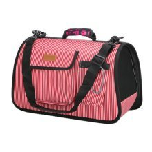Pet Carrier Soft Sided Travel Bag for Small dogs & cats- Airline Approved, Red #47