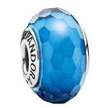 Pandora Azure Faceted Murano Glass Charm - 791607