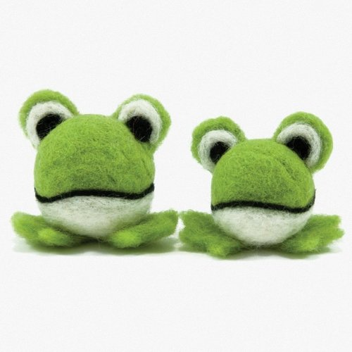 D72-73899 - Dimensions Needle Felting - Round & Wooly: Frogs