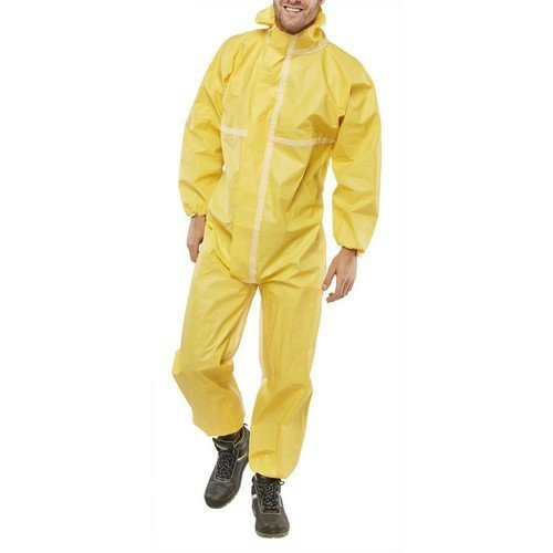 Click COC40Y3XL Disposable Coverall Microporous Yellow XXXL