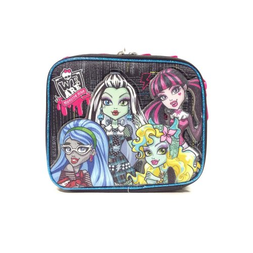 Lunch Bag - Monster High - Fashion Black Kit Case New 116426