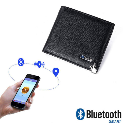 Bluetooth Anti Lost Theft Wallet Leather GPS Locator Track Tracker