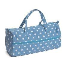 HobbyGift Denim Blue Spot Knitting Bag