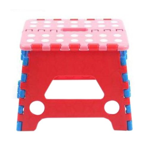Creative Plastic Foldable Step Stool Portable Folding Stools Stepstool for Kids & Adults, No.5
