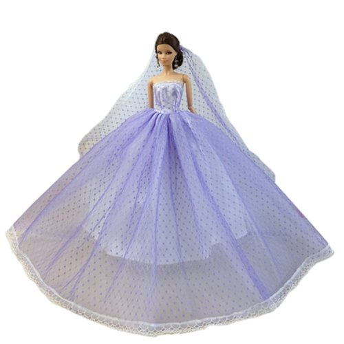Handmade Sweet Wedding Gown  For 11'' Dolls Doll Clothing Lace Gown