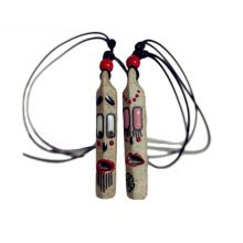 Set of 2 China Hand-painted Whistle with Lanyard Fashionable Necklace