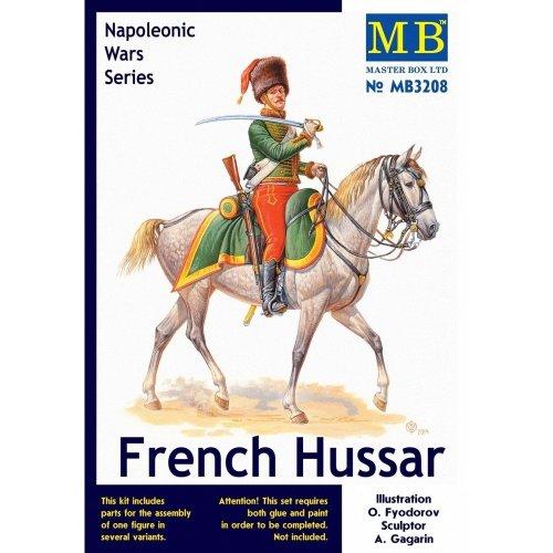 Mas3208 - Masterbox 1:32 - French Hussar , Napoleonic Wars Series