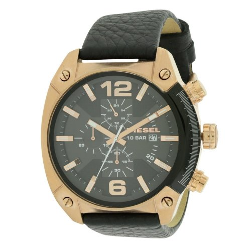 Diesel Overflow Chronograph Leather Mens Watch DZ4297
