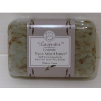 Bisous De Provence Lavender Triple Milled Soap Enriched With Shea Butter