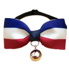 England Style Pet Collar Tie Adjustable Bowknot Cat Dog Collars with Bell-A07