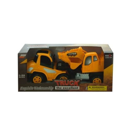 Kole Imports KL252-4 11.5 x 3.5 in. Friction Powered Toy Construction Truck, Pack of 4