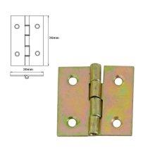 40 Pcs Folding Closet Cabinet Door Butt Hinge Brass Plated 30x30mm