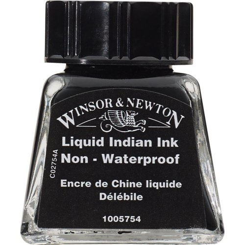 W&n Drawing Ink 14ml Liquid Indian Non W -  ink drawing winsor newton 14ml indian bottle liquid colours calligraphy