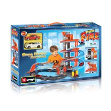 1:43 Mega Dealer Showroom - Bburago Garage 143 Street Fire Kids Toy Car Park -  showroom bburago garage 143 street fire kids toy car park level play