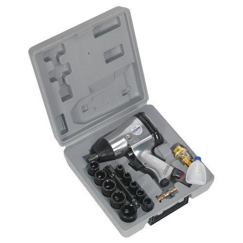 """Sealey SA2/TS 1/2""""Sq Drive Air Impact Wrench Kit with Sockets"""