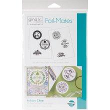 "Gina K Designs Foil-Mates Background 5.5""X8.5"" 10/Pkg-Holiday Cheer"