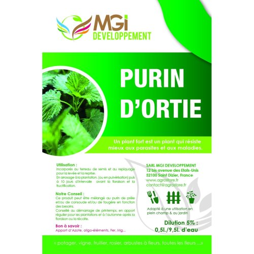 5 Litres of Nettle Manure 100% Natural Fertiliser Made in France