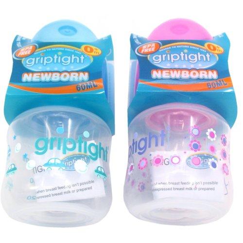 Griptight - Newborn Baby Feeding Bottle - 60ml