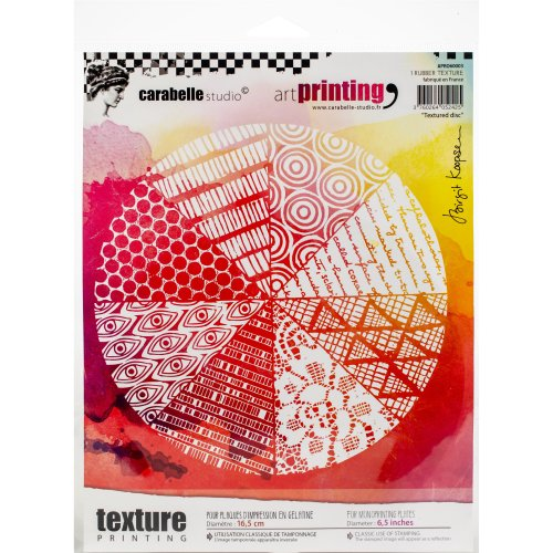 Carabelle Studio Art Printing Round Rubber Texture Plate-Textured Disc