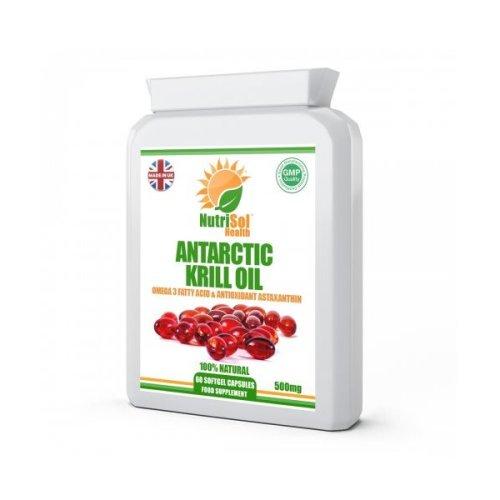 NutriSol Health 100% Pure Superba Antarctic Krill Oil 500mg 60 Capsule