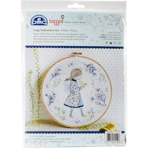 """Charles Craft/Tamar Embroidery Kit 10""""X10""""-Winter Fairy"""