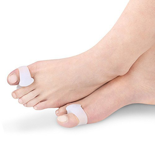 1 Pair Toe Spacers for Bunions & Hammer Toes | Big Toe Corrector Gel Pads | Separators or Spreaders for Overlapping Toes & Drift Pain (1 Pair Big...