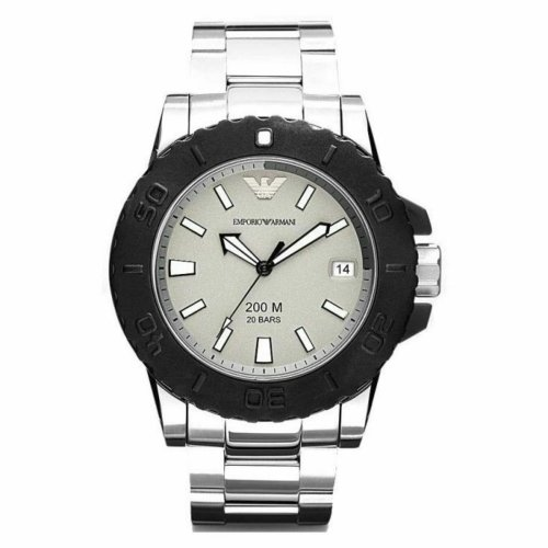 new style 80f1f 1d720 Emporio Armani Sportivo Stainless & Silicon Topring Men's Watch AR5970