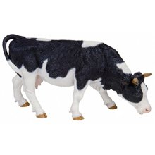 Black And White Grazing Cow - Papo Animal Wild Model 51150 Farm Toy Figures -  papo animal black white cow wild model 51150 farm toy figures