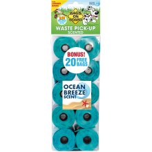 """Bags On Board Scented Refill Pack 140 9""""X14"""" Bags-Ocean Breeze"""