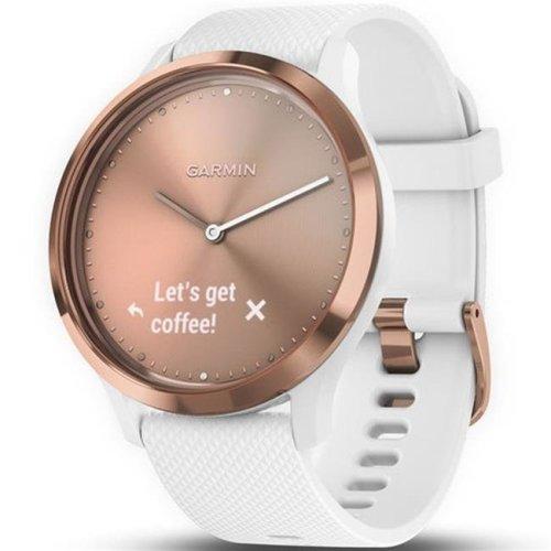 Garmin 72282 Vivomove HR Sport Hybrid Smart Watch - Rose Gold