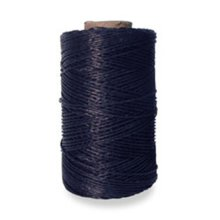 4oz Black Strong Waxed Thread -  tejas waxed thread polyester black 4 oz132 yds 120 m 122001 132ydblack