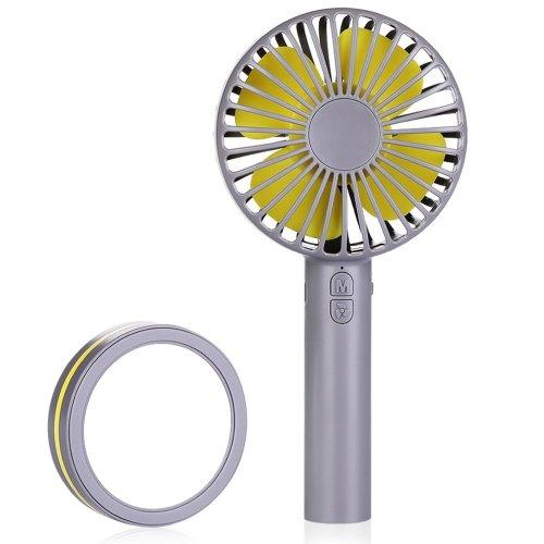 Hand Held Fan Mini Fan Portable - Idealife USB Rechargeable Hand Fan Battery Operated Fan with 3 Adjustable Speeds Mirror Base Handheld Fan Small...