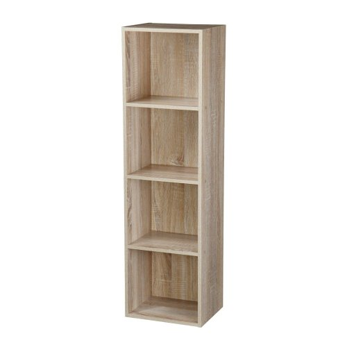 Home Beautiful 2 Tiers Diy Shelving Cd Book Storage Box Unit Display Bookcase Shelf Home Office